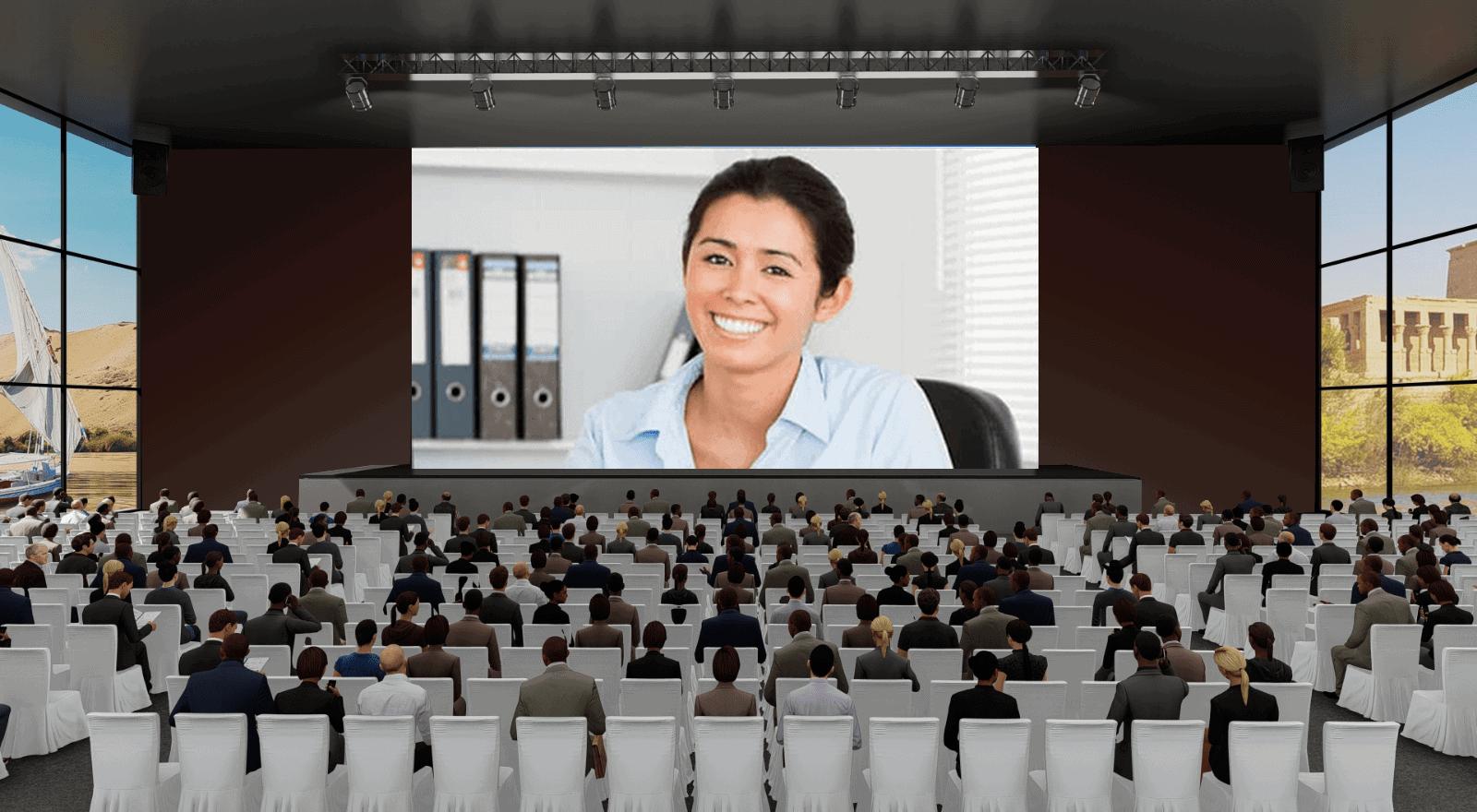 virtual auditorium in digital banking conferences