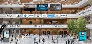 AAS virtual event lobby design
