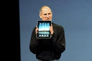 Apple special hybrid event Image Source: https://commons.wikimedia.org/wiki/File:Steve_Jobs_with_the_Apple_iPad.jpg