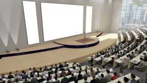 virtual academic fair auditorium