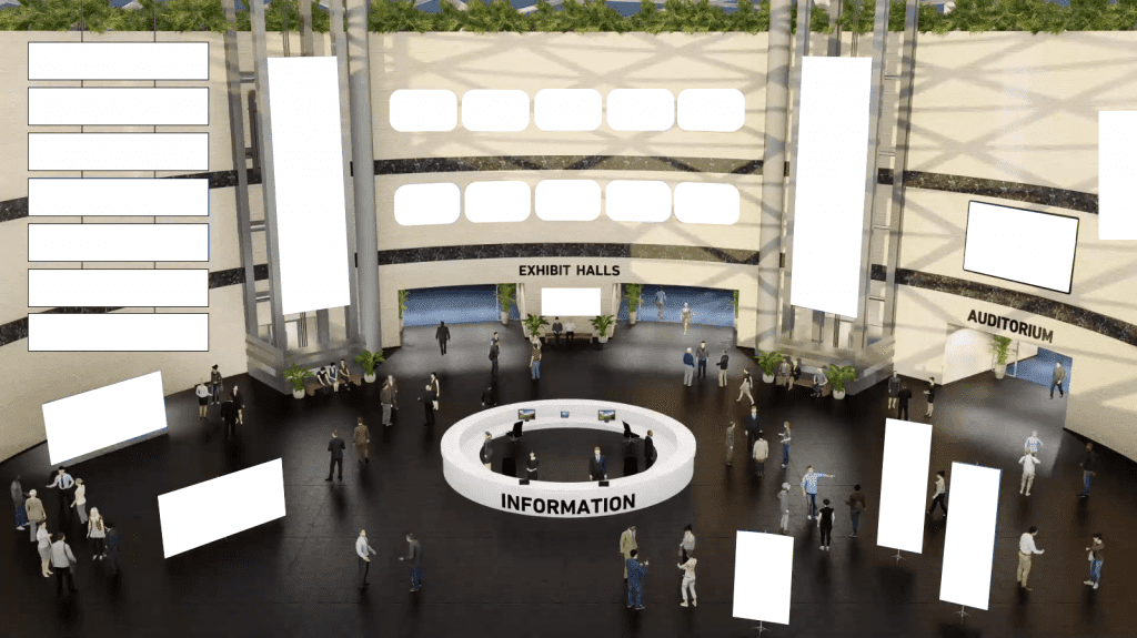 an image of a vfairs virtual lobby