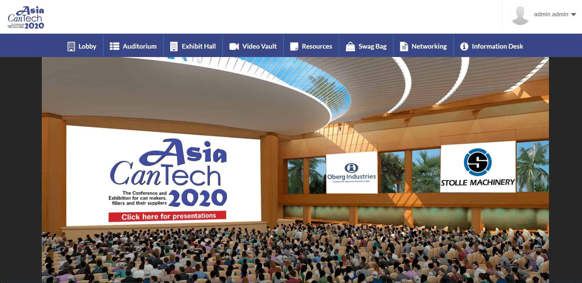 speaker sessions in virtual auditorium