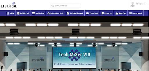 virtual auditorium IT trade show