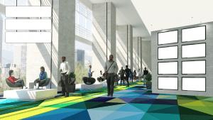 virtual conference hallway
