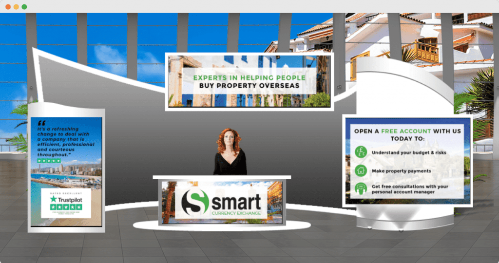 an image of a booth at your overseas home virtual property trade show