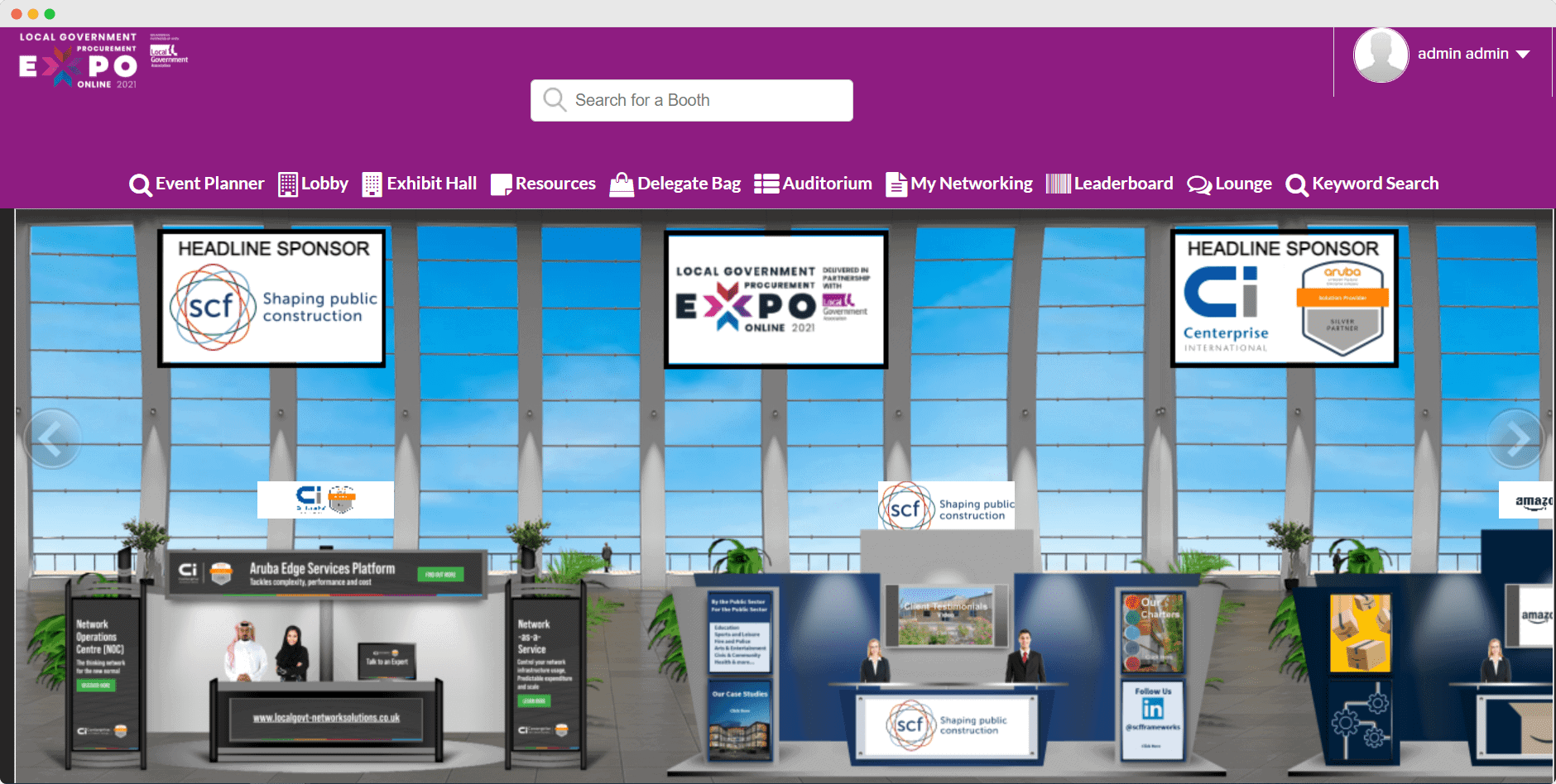 BiP virtual events exhibit hall