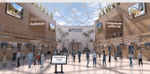Animated Virtual lobby