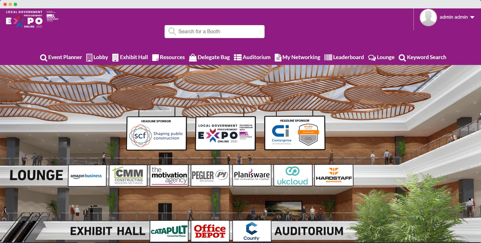 BiP virtual events lobby
