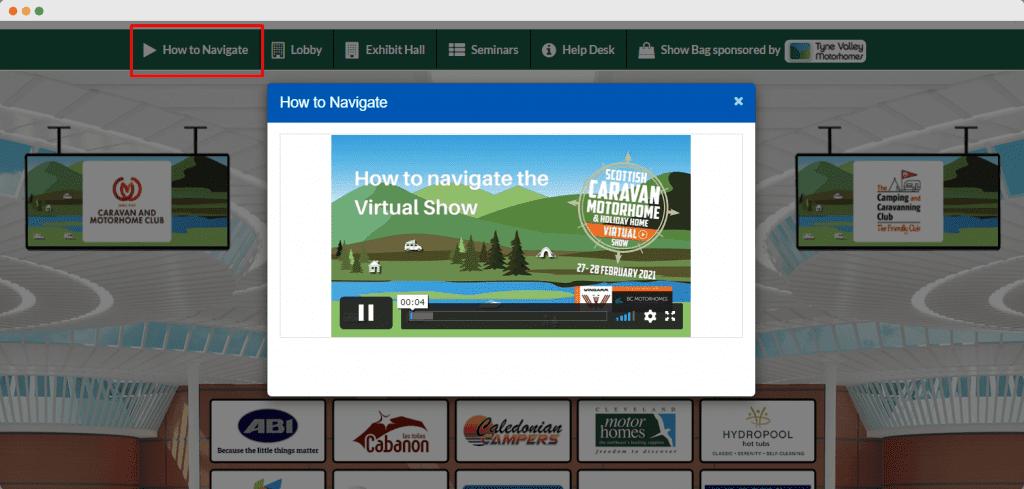 an image of the scottish caravan show navigation video