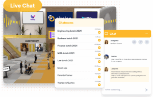 live chats when hosting hybrid events