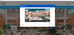 welcome video in virtual lobby