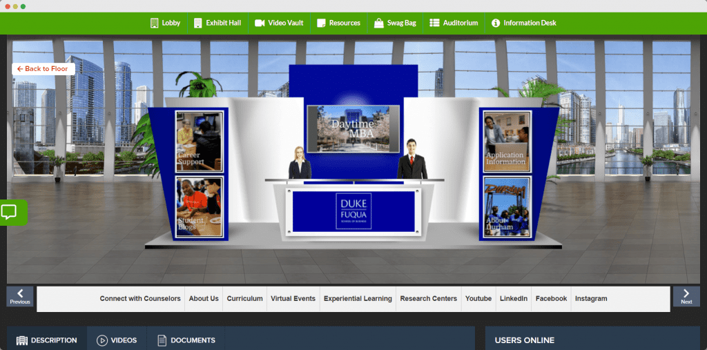 Virtual booth avatars