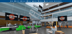 virtual university fair lobby