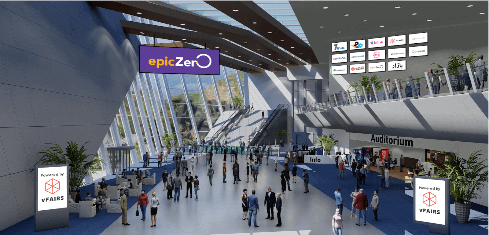 epiczero hybrid event virtual lobby