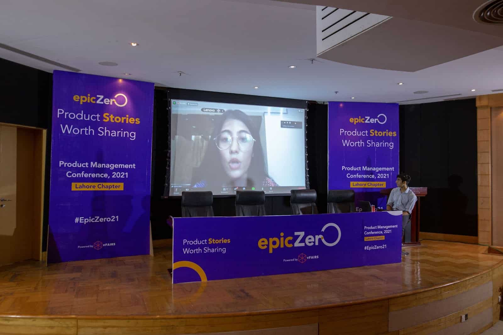 epiczero hybrid event presentation