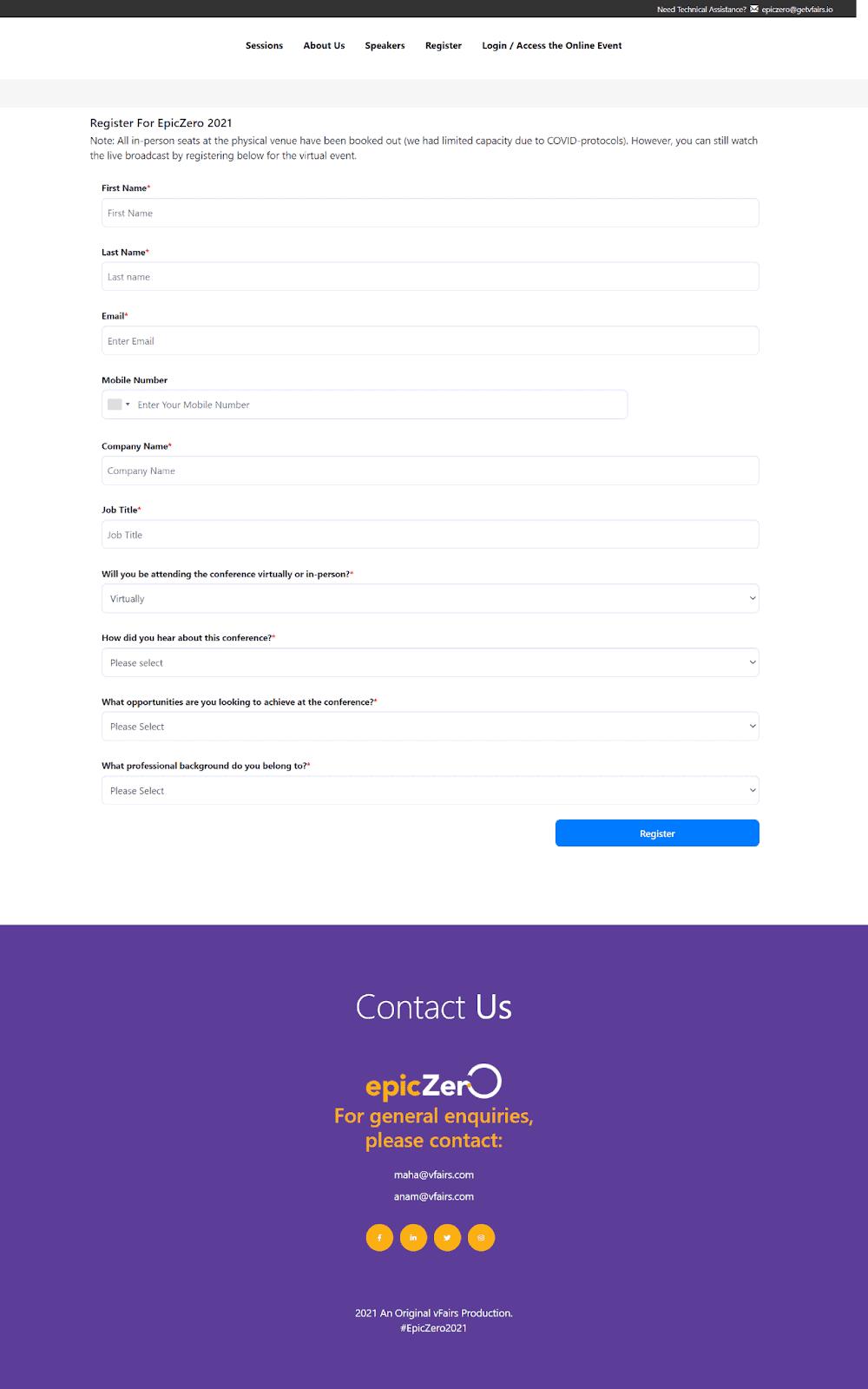 epiczero registration