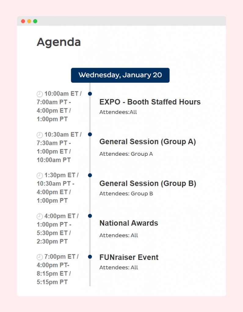image of nlc's event agenda