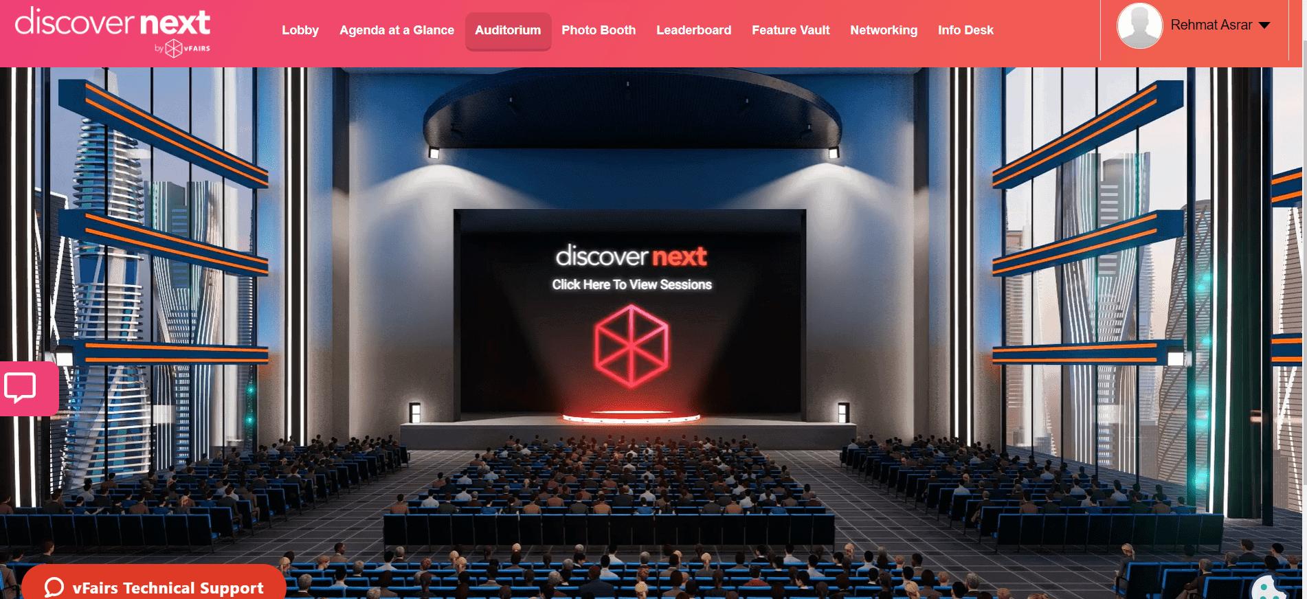 vFairs Discovernext Auditorium