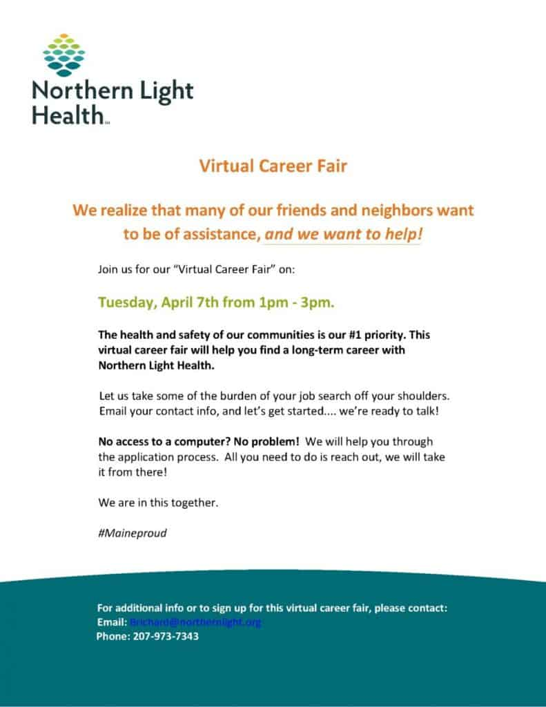 email marketing example for virtual career fairs