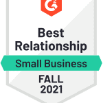 G2 Fall 2021 Best Relationship for virtual events