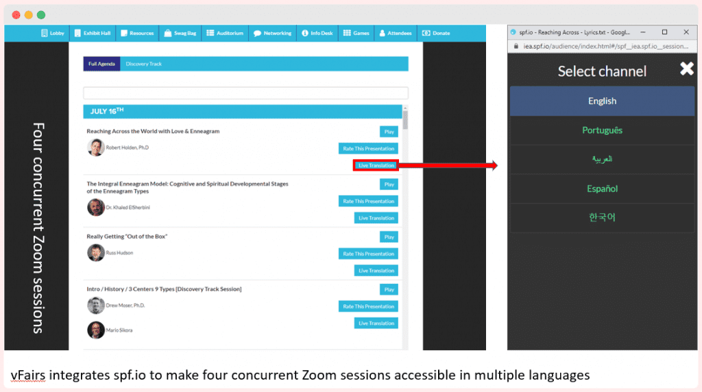 image of spf.io concurrent zoom sessions