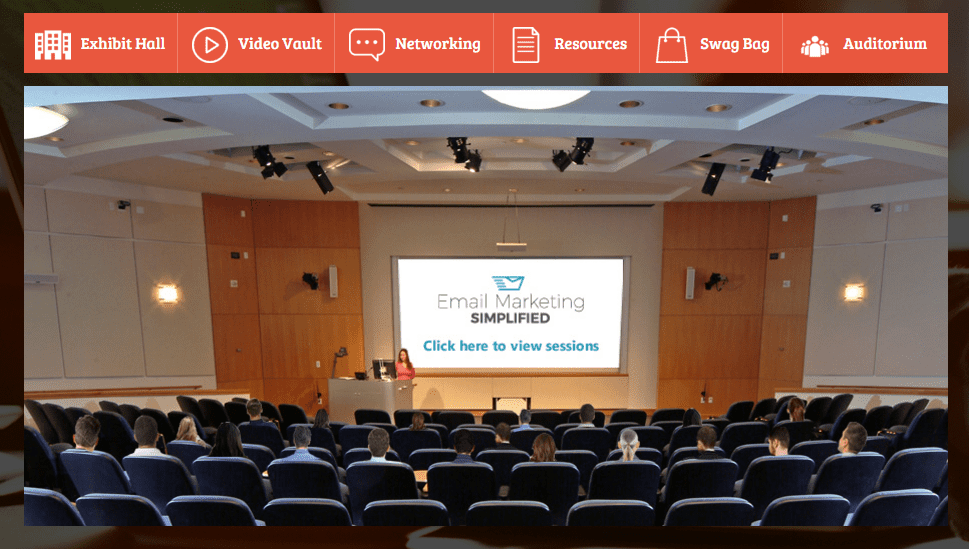 Email Marketing Simplified Event- Webinar Auditorium